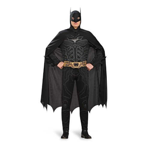 Batman Dark Knight Rises Kostüm Herren Overall Umhang Maske ideal für Karneval - (The Knight Catwoman Dark Rises Kostüm)