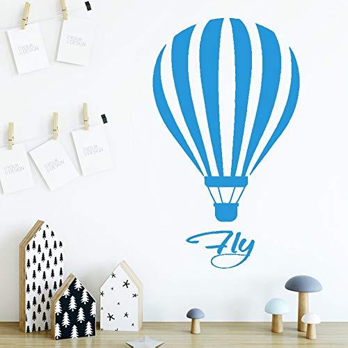 zxddzl DIY Heißluftballon Wandaufkleber Entfernbare Wandaufkleber DIY Tapete Für Kinderzimmer Wohnkultur Dekoration Zubehör-76x45 cm