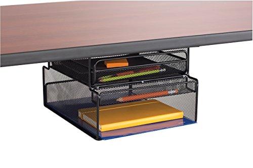 Safco Onyx Mesh montieren Untertisch-hängende Aufbewahrung-Schwarz