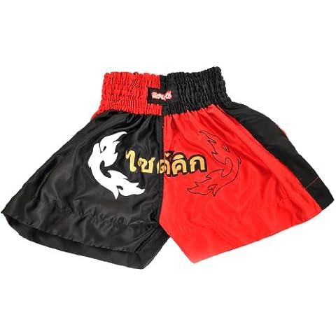 Cortocircuitos tailandeses Muay Inferno Sidekick niños pantalones cortos de boxeo