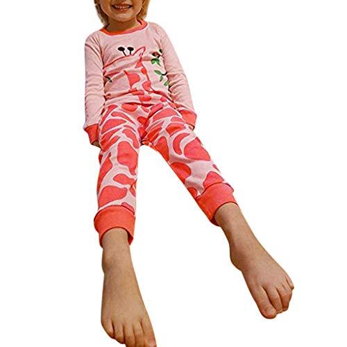 Amphia - (2T-7T Pyjama-Set für Kinder - Cartoon-Print-Top + Hosen für Zuhause - Kleinkind Baby Jungen Mädchen lang ÄrmelCartoon Tops + Hosen Pyjamas Nachtwäsche Outfit