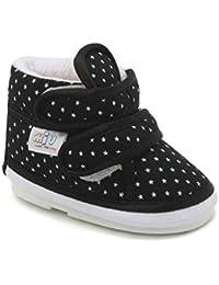 CHiU Chu-Chu Sound Star Pattern Black Shoes for Months Baby Boy & Baby Girl