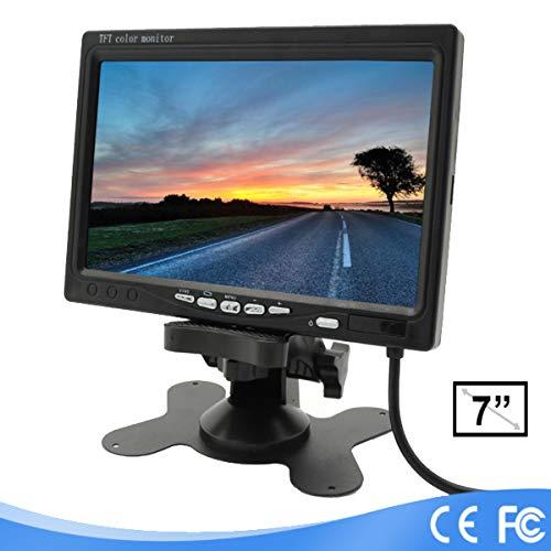 Lychee Rückfahrkamera (7 Zoll) TFT LCD-Monitor für Auto Kamera,LED-Hintergrundbeleuchtung,800 x 480 hoher Auflösung,mit Fernbedienung und Montagehalterung Tft Lcd