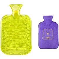 1800ML Klassisch PVC Kalt oder Heiße Wasserflasche mit weichem Plüschbezug, 07 preisvergleich bei billige-tabletten.eu