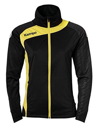 Kempa Peak Multi Jacke Präsentationsjacke schwarz-gelb Damen schwarz/limonengelb, L (40)