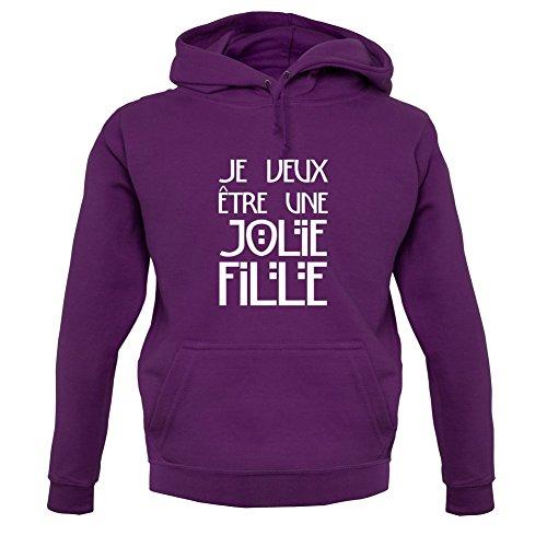 Je veux être une jolie fille - Unisex Pull - Violet - M