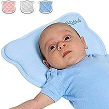 Almohada para Bebe para plagiocefalia desenfundable (con dos forros) para prevenir/curar la