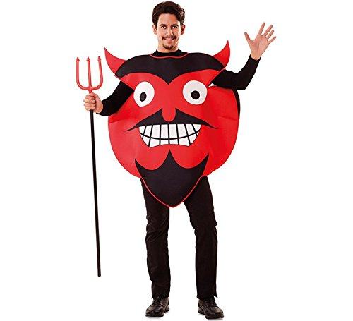 EUROCARNAVALES, SA Teufel Emoji Kostüm für Erwachsene Einheitsgröße