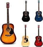 RayGar Sunburst 41'' 4/4 Full Size Acoustic Guitar Package Pack Outfit Beginner Dreadnought Steel String - NEW (Sunburst)