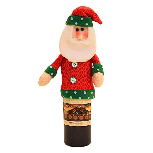 Cathy02Marshall Weihnachten Flaschentasche,Weihnachten Flasche Sets,Christmas Bottle Sets Christmas Bottle Bag Weihnachts Anzug Kostüm Weinflasche Wrap-Abdeckungs Beutel Dekoration