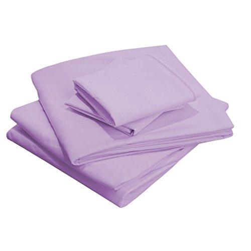 SCALABEDDING 18Zoll tiefe Tasche 100% ägyptische Baumwolle Fadendichte 300twin-xl SSD Bettwäsche lavendel (Twin Bettwäsche Lavendel)