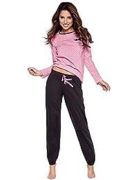 Moonline moderner und bequemer Damen Pyjama/Shorty, mit weicher Baumwolle, Verschiedene Modelle