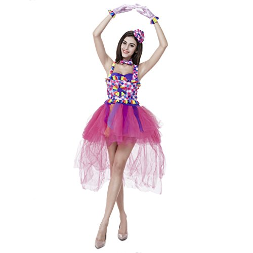 Frauen-Illusion Prinzessin Magie Fee Ballerina Dress Up Halloween-Kostüm - Hotpink