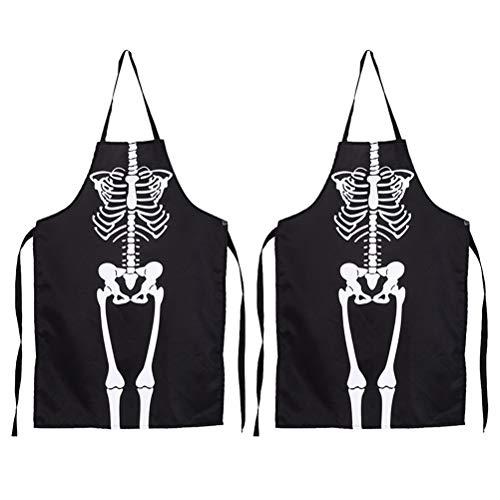 ween Schürze Horror Skeleton Kostüm Cosplay Zubehör für Halloween Dress Up Party ()