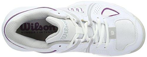 Wilson NVISION ENVY W Damen Tennisschuhe Mehrfarbig (WHITE/STEEL GREY/AZALEE PINK)