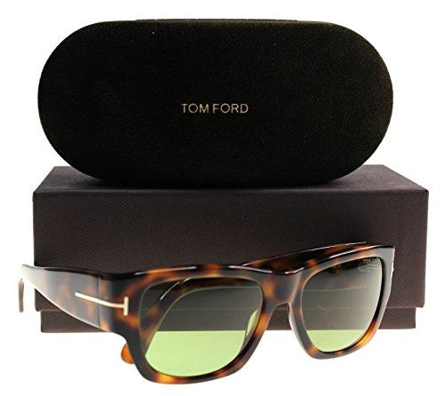 Tom Ford Männer FT0493 Stephen Sonnenbrille Dunkel Havana w/Grüne Linse 52N TF0492 rot groß