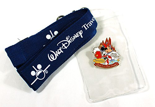 Minnie Mouse Year of a Million Dreams Disney Trading Pin, Lanyard and Badge Holder by Disney (Disneyland Lanyard)