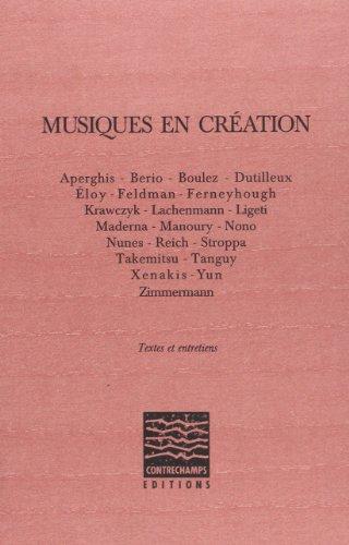 Musiques en création par Collectif