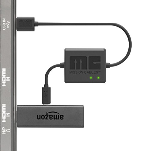 Mission Cables USB Stromkabel (für Fire TV Stick) schwarz -