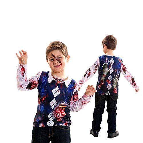 viving Kostüme viving costumes231128Zombie Boy Lange Ärmel T-Shirt (8?10Jahre, One Size) Preisvergleich