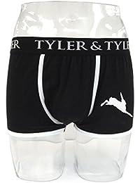 Tyler & Tyler - Boxer Homme Noir, Lièvre Blanc