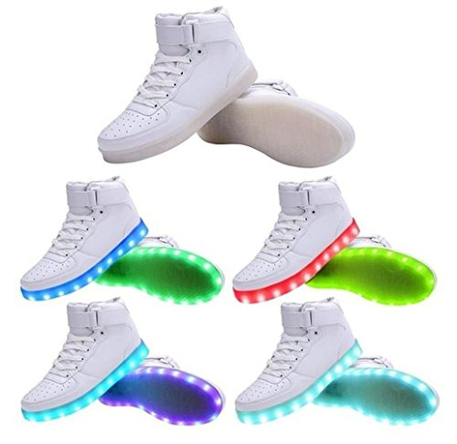 Weiß Blinkende Led Light junglest® Handtuch Licht Neu Schuhe kleines Sneakers Leuchtende Damen Farbwech present q0wOBpZ