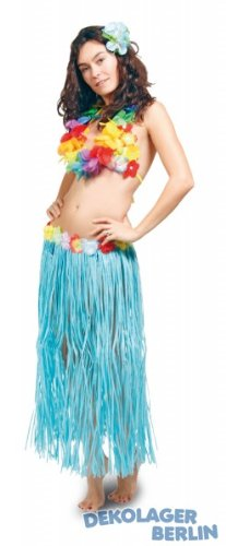 Creativa-Falda-hawaiana-Color-azul-80-cm