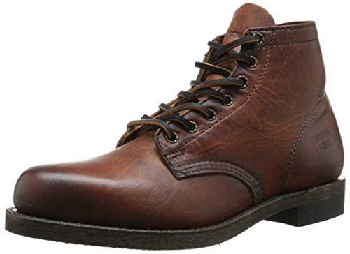 FRYE Men's Prison Boot, Cognac Soft Vintage Leather, 10.5 M US (Leder-boots Frye)