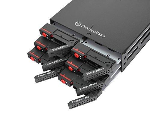 "Max 25044BAY Hot Swap Mobile Rack/Gehäuse mit 40mm Lüfter, 10,2x 6,3cm Festplatten/SSDs, SATA I/II/III 6Gbps, 2,5x 13,3cm Bay 2.5"""