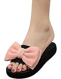Chanclas Mujer Verano,Mujeres arco verano sandalias zapatillas de interior al aire libre flip-flops zapatos de playa LMMVP