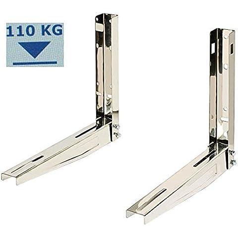 Supporto in acciaio INOX, per unità esterna fino a 110 Kg