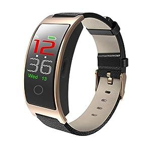SPORS Fitness Tracker cinturón Impermeable Ritmo cardíaco presión Arterial sueño Monitor podómetro Reloj Inteligente para niños, Mujeres y Hombres-Black 1