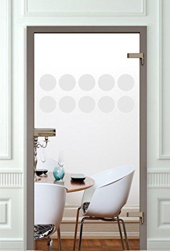 Glastür Aufkleber Tattoo Folie Glasdekor Fensterfolie Sichtschutz Wohnzimmer, Bad, Küche oder für alle Glasflächen Sichtschutzfolie für Türen GDT11 Größe ca. 30cm x 80cm
