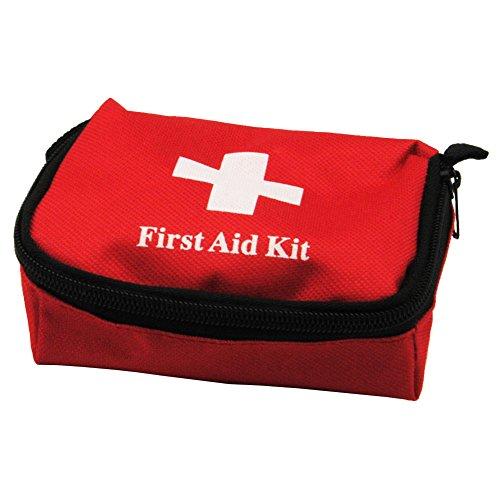 Fashion Galerie Aid Tasche Reiseapotheke First Aid Kit Erste-Hilfe Tasche mit Reißverschluss 13.5 x 8.5x5cm -Rot- (Galerie Damen Handtasche)