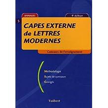 CAPES externe de lettres modernes (Concours enseignement)