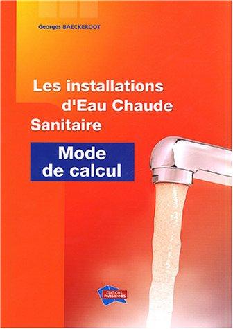 Les installations d'eau chaude sanitaire par Georges Baeckeroot