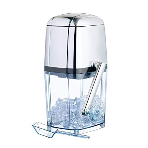 Ice Crusher Hand Shake Ice Shaver Maschine Crushed Ice für Cocktails Smoothies Große Kapazität Edelstahl Schneekegelmaschine für den privaten und kommerziellen Gebrauch Einfach zu reinigen