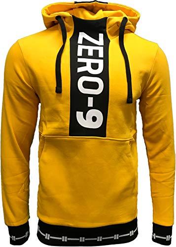 JACK & JONES Herren Kapuzenpullover Hoodie Jacket Sweatjacke Rookie Core Sweatshirt Sweat Hood S M L XL XXL (L, Gelb)