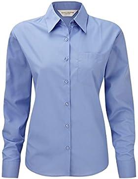 Z934F popelín-blusa de manga larga