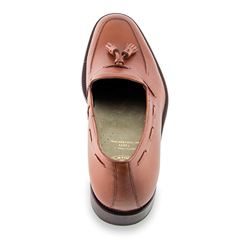 Masaltos - Chaussures rehaussantes pour homme. Jusqu'à 7 cm plus grand! Modèle Valentino Brun