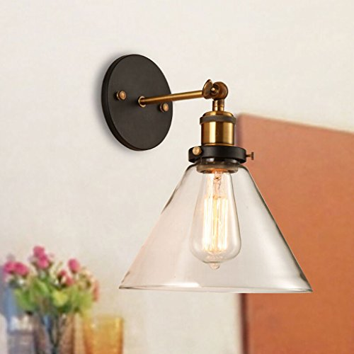 Europäische transparente Glaswandlampe industrielle Bell Art dekorative Wandleuchten E27 antike Schlafzimmer Badezimmer Korridore Wandleuchte -