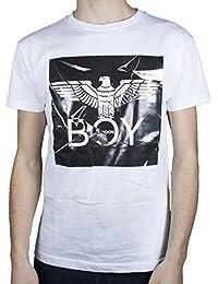 Boy London T-Shirt Uomo Bianco Girocollo con Stampa Pellicola con Logo  BLU6083 5d5afea401c