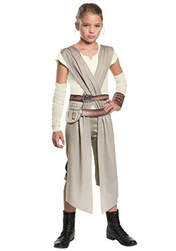Star Wars das Erwachen der Macht Rey Mädchenkostüm Kostüm für Mädchen Gr. 104-152, Größe:L (Mädchen Star Wars Kostüm)