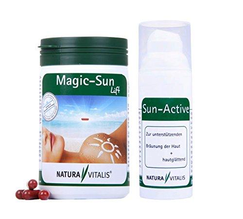 *Neu* Natura Vitalis Magic Sun Lift 240 Kapseln (129g) + Sun Active Creme 50ml