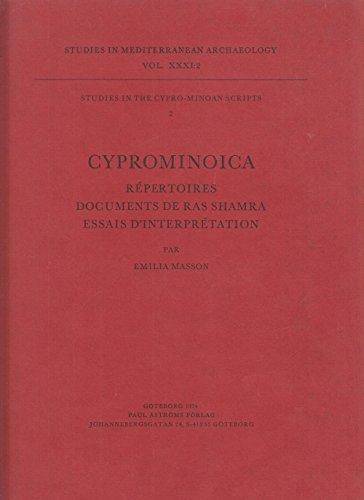 Cyprominoica Rpertoires documents de Ras Shamra Essais d'interprtation