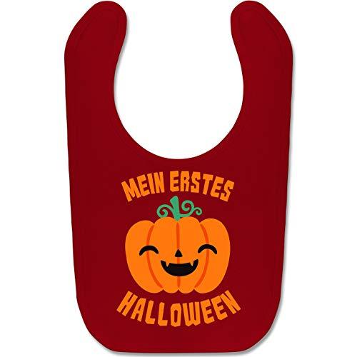 Shirtracer Anlässe Baby - Mein erstes Halloween Kürbis - Unisize - Rot - BZ12 - Baby Lätzchen Baumwolle