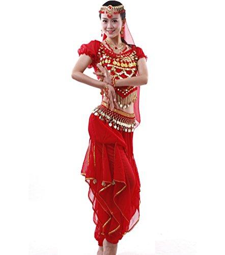 Indische TanzKostüm Und Zubehör - Damen Bauchtanz-Komplet Tanzkostüme Indische Kostüm Zubehör