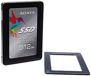 "ADATA SP610 Disque dur SSD interne 2,5"" Portable 512 Go SATA III Noir/Gris"