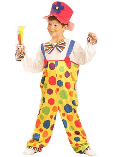 üm für Kinder 122/134 (7-9 Jahre) (Süße Clown Kostüme Für Kinder)