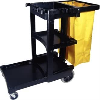 Rubbermaid L658 Cleaning Trolley with Vinyl Bag, Structural Foam Construction